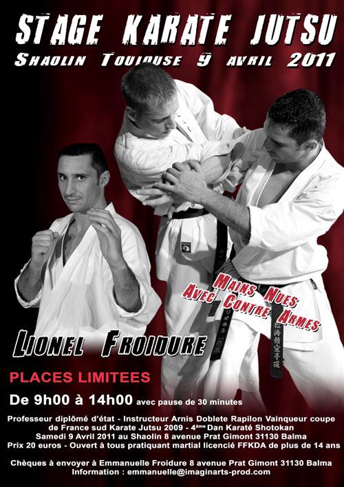 stage karate jutsu lionel froidure