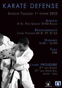 stage karate defense avec Lionel Froidure