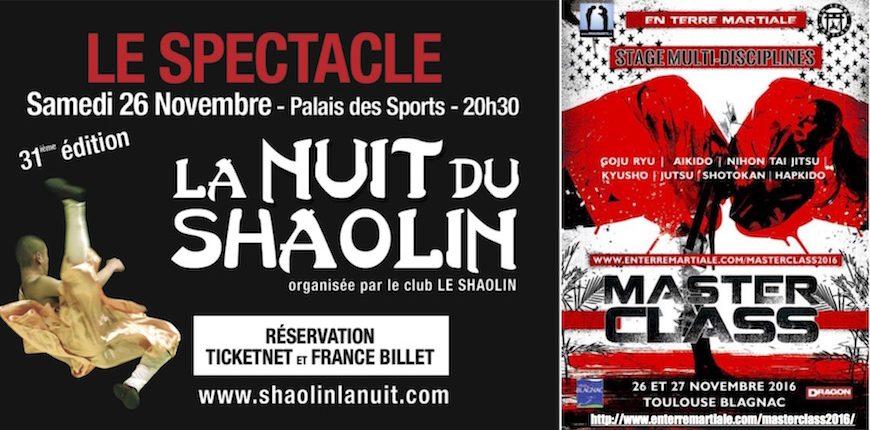 Nuit du Shaolin 2016 + Stage Masterclass