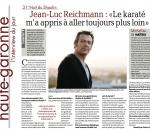 Jean Luc Reichmann: le karaté m'a appris à aller toujours plus loin