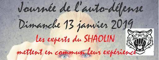Journée de l'Auto Défense dimanche 13 janvier (gratuit)