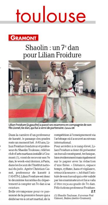 Karaté Lilian Froidure 7ème Dan