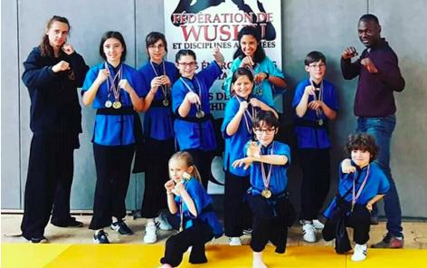 La section  Kung Fu du Shaolin au TOP lors des championnats nationaux
